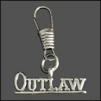 Outlaw Zipper Pull