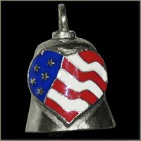 Colored American Heart Gremlin Bell