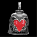Angel Wing Red Heart Gremlin Bell