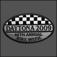 Checkered Daytona 2009 Bike Week Patch