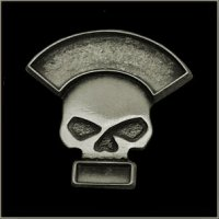 Double Line Half Skull Event Pin