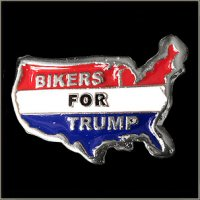 Bikers For Trump Motorcycle Pin