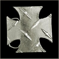 Diamond Tread Chopper Cross Belt Buckle