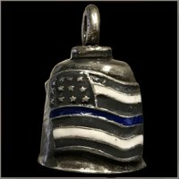 Thin Blue Line American Flag Gremlin Bell