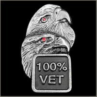 Double Eagle 100% Vet Biker Pin