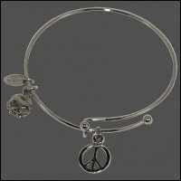 Peace Sign Bangle Bracelet
