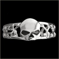 Black Eye Half Skull Man's Bracelet