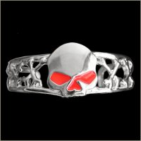 Red Eye Half Skull Man's Bracelet