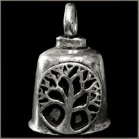Pewter Motorcycle Gremlin Bell Tree of Life Made in the USA