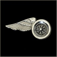 Large Wheel Wing Motorcycle Pin
