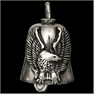 Eagle with Upturned Wings Gremlin Bell - Click Image to Close